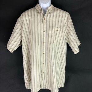 Wrangler Men's White Tan Button Shirt XL